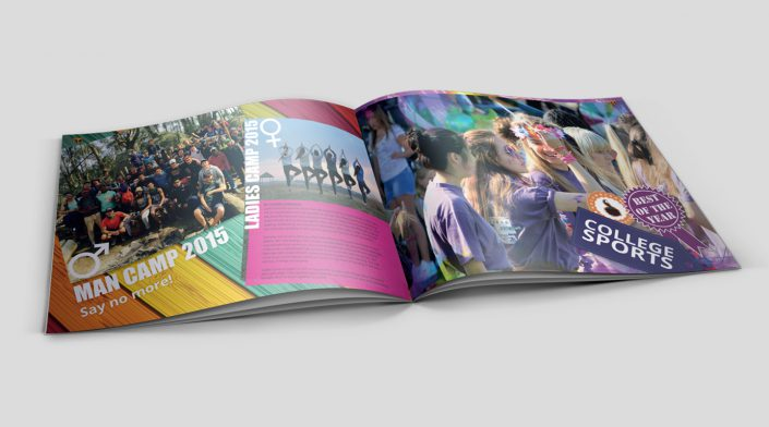 yearbook inside camp