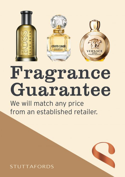 fragrance offer signage
