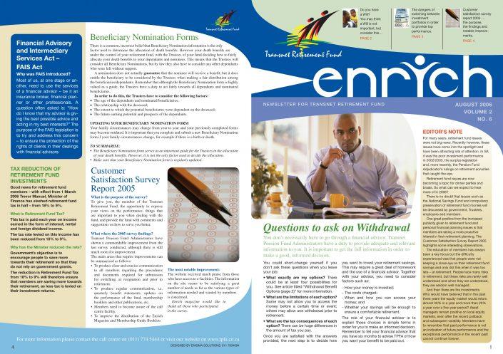 enrich transnet newsletter