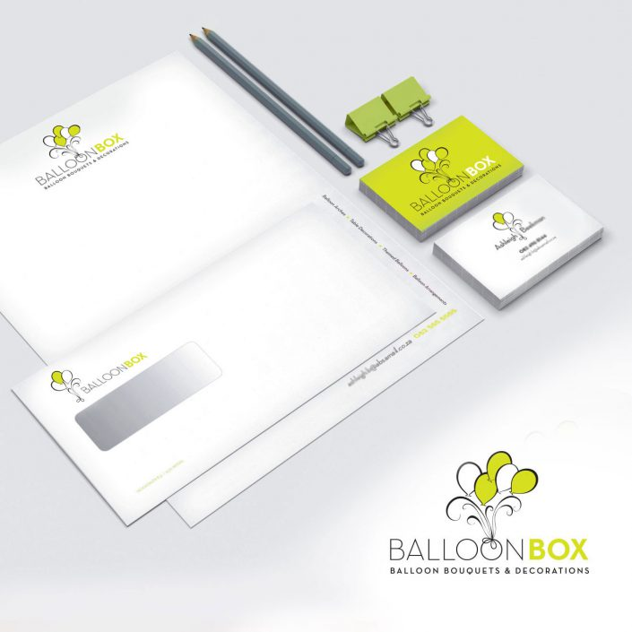 balloon box stationary logo