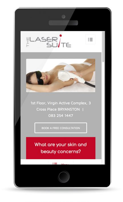 lasersuite mobile view